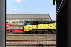 70808  Eastleigh 05/04/18 (Woolwinder) Tags: ukclass70 70808 colasrailfreight eastleigh hampshire england lswr southernrailway