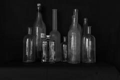 Still live (rwscholte) Tags: bw blackandwhite bnw stilllive glass pentax prime pentaxian bottle naturamorte