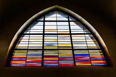 Abstract stained glass in St Stephen's, Hasselt. (Gerry Lynch) Tags: catholic nrw kleve bedburghau hasselt niederrhein church germany