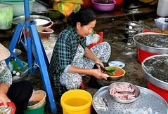 """Juicy skinned Rat anyone?"" - A market in vietnam. (One more shot Rog) Tags: vietnam vietnamese markets market selling onemoreshotrog travel nikond500 meat fruitandveg rat rats cook cooked skin skinned"