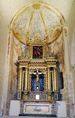 capilla y retablo Cristo Crucificado interior Iglesia San Pedro de Rua Estella Navarra (Rafael Gomez - http://micamara.es) Tags: capilla y retablo cristo crucificado interior iglesia san pedro de rua estella navarra
