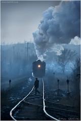 Fuxin Dust to Dusk (channel packet) Tags: china steam train locomotive railway railroad transport smoke rails evening dusk davidhill