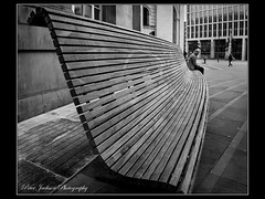 Who Me...? (deltic22) Tags: manchester central library curved bench wood figure
