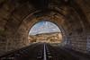 A la salida del tunel. (Roberto_48) Tags: hoces riaza tunel via aranda castilla leon
