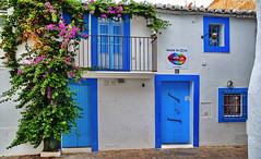 Ibiza: Love shop, closed for siesta (gerard eder) Tags: world travel reise viajes europa europe españa spain spanien baleares ibiza windows door shop blue building edificio gebäude architecture architektur arquitectura outdoor oldcity street streetlife
