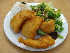 Ika Fry (knightbefore_99) Tags: japan japanese food lunch work vancouver asian higenki classic cool home cafeteria deep fried ika fry art