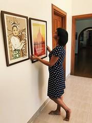 Hanging new frames (Verte Ruelle) Tags: mère niqo milf wife woman women girl girls rangoon yangon myanmar burma