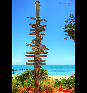 Fort Zachary Beach Directional Sign Post 2