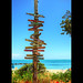 Fort Zachary Taylor Beach Directional Sign Post