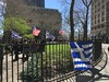 Greek and US Flags - Bowling Green (Skellig2008) Tags: flag greece greek hellenic bowlinggreen manhattan flagraisingceremony