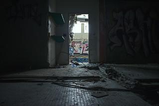 Abandoned Pool Entrance