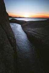 (Frank S. Schwabe) Tags: sunset sea shore sky ocean nordmøre norge norway klubba kristiansund ice winter rocks
