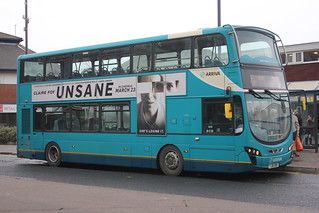 Arriva north east 1542 YJ61 OBS