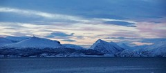 Endless winter (little_frank) Tags: finnmark northern norway nature panorama view sea ocean fjord sky light evening sunset horizon natural wild wilderness snow winter ice icy snowy cold freezing