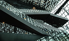 Window and sensory overload! (Jo Evans1- On and off for a while - really busy!) Tags: window wednesday hww abstract sensory overload harpa concert hall reykjavik iceland
