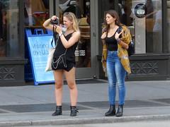 Flatiron Photographer (Multielvi) Tags: new york city ny nyc manhattan madison square flatiron building girl woman camera candid street tourist