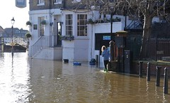 """Part Of The Service"" (standhisround) Tags: flood water richmonduponthames riverthames thames pub publichouse inn tavern the white cross england uk building river"