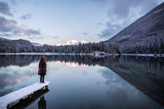 Cold Sunset (Fabian Fortmann) Tags: bayern bavaria germany deutschland hintersee lake winter snow sunset model berchtesgaden ramsau reflection