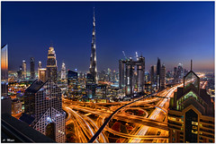 Dubai (meypictures) Tags: dubai shangrila hotel rooftop 42level sheikhzayekroad bluehour uae meypictures burjkhalifa