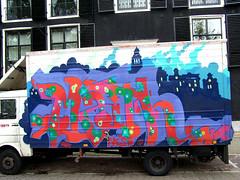 graffiti amsterdam (wojofoto) Tags: amsterdam nederland netherland holland graffiti streetart wojofoto wolfgangjosten car vrachtwagen math