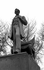A president to look up to (pabs35) Tags: film believeinfilm ferrania filmferrania p30 p30alpha 35mm blackandwhite bw canonet ql17 canonetql17 canon rangefinder d76 lincoln statue abrahamlincoln landoflincoln chicago lincolnpark