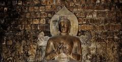 """INDONESIEN; JAVA , buddh. Tempelanlage Candi Mendut( Buddha-Statue ) , 17270/9795 (roba66) Tags: candimendut buddhastatue tempel temple buddhismus reisen travel explorevoyages urlaub visit roba66 asien südostasien asia eartasia """"southeastasia"""" indonesien indonesia """"republikindonesien"""" """"republicofindonesia"""" indonesiearchipelago inselstaat java tempelanlage yogyakarta """"mahayanabuddhismus"""" """"buddhisttemple"""" buddha relief statue bauwerk building architektur architecture arquitetura kulturdenkmal monument fassade façade platz places historie history historic historical geschichte gold"""