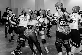 The Death Track Dolls vs The Gore Gore Rollergirls