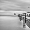 Zinnowitz (Ondrej V.) Tags: vle pier sea ocean longexposure bigstopper monochrome blackandwhite zinnowitz usedom germany sky water bridge