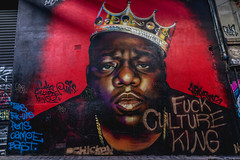 The Notorious B.I.G in Hosier Lane (SemiXposed) Tags: rapper art hosier lane alleyway melbourne outdoors laneway night sony australia