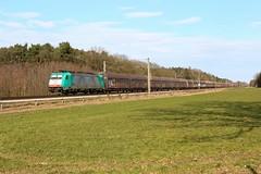 LINEAS TRAXX 2830 (E186 222) met grootvolume wagons te Rheine (daniel_de_vries01) Tags: lineas traxx 2830 e186 222 met grootvolume wagons te rheine