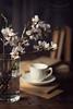 Books & coffee (Ramón Antiñolo) Tags: books coffee almond tree flowers cup lowkey afternoon