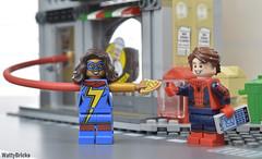 Pizza Delivery (WattyBricks) Tags: lego marvel superheroes ms kamala khan peter parker spiderman