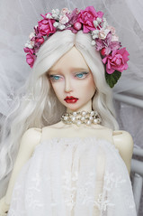 New floral crowns (AyuAna) Tags: bjd ball jointed doll dollfie abjd ayuana design minidesign handmade flower crown headdress wreath sd sd13 sd10