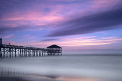 Cocoa Beach sunrise (Dariusz Wieclawski) Tags: usa florida floryda cocoa cocoabeach sunrise dawn fuji x100t fujix100t leefilters leebigstopper leegrad long longexposure cocoabeachpier pier
