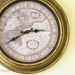 Back in Time (old.pappous) Tags: apg crete greece antique clock clockface doctor face map reversed flipped wallclock