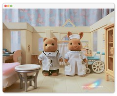 👨‍⚕️📋✏️ Physician and Angel in White 💉💊👩‍⚕️ 🏩🐻 醫者與白衣天使 🐰🚑 (violet-pegasus) Tags: sylvanianfamilies calicocritters 森林家族 シルバニアファミリー mywoodlandcritters森林の小精靈 critters miniature toys animal doll dollhouse figure toyphotography toystagram instatoys iphonephotography bear rabbit bunny deer generalhospital hospital clinic physician medicalpractitioner medicaldoctor doctor nurse patient medicine
