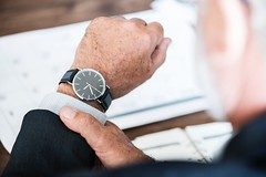 Businessman checking Time (Bestpicko) Tags: business finance suit man businessman wrist watches