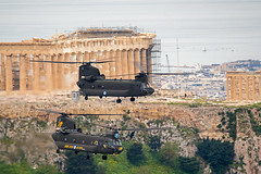 Boeing CH-47D Chinook, Hellenic Army Aviation (belas62) Tags: hellenicarmyaviation helicopter march25th athens acropolis parthenon παρέλαση 25ημαρτίου ελικόπτερο αεροπορίαστρατού ακρόπολη greece