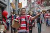 PSV Champignon (Frankhuizen Photography) Tags: psv champignon soccer voetbal rood wit red white street straat man portret portrait glasses bril dof confetti eindhoven netherlands nederland landskampioen football celebrating