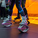 Training with Kangoo Jumps rebound shoes
