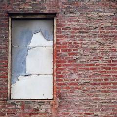 shabby chic shade? (msdonnalee) Tags: brick brickwall wall window ventana fenster finestra janela fenêtre oldbrick muro tijolo minimalism minimalisme minimalismo architecturaldetail windowshade windowcovering