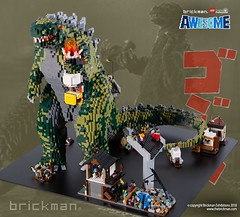 LEGO® brick Godzilla (TheBrickMan) Tags: lego brickman awesome godzilla japan