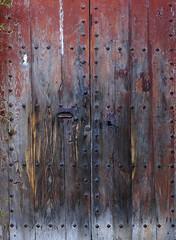 DETALL PORTA ESGLESIA DE L'ESPARRA (Joan Biarnés) Tags: lesparra porta puerta esglesia iglesia riudarenas laselva 248 panasonicfz1000