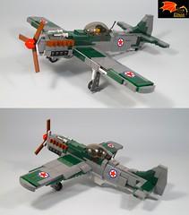 Ikarus S-49C ready to take off (Eínon) Tags: lego ikarus s49 ww2 solo yugoslavia jugoslavia second world war