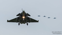 Rafale with F-18s (william.spruyt) Tags: rafale f18 spanish french adla fighter jet aircraft airplane leeuwarden airpower