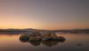 Reflejo. (Amparo Hervella) Tags: embalsedevalmayor comunidaddemadrid españa spain reflejo color maturaleza largaexposición d7000 nikon nikond7000 agua roca atardecer paisaje