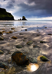 That golden nectar. (lawrencecornell25) Tags: coast isleofskye landscape taliskerpoint nature nikond700 skye scenery scotland taliskerbay beach sunset