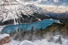 Windy Peyto (Philip Kuntz) Tags: peytolake bowsummit snow winds sunset icefieldsparkway banff alberta canada