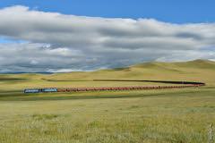 Amazing day .... (N.Batkhurel) Tags: season summer sky clouds mongolia monrailpic mountian locomotive landscape gondola trains trainspotting railway railfan 1520 2te116um ngc nikon nikondf 24120mm freighttrain