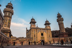 Wazir Khan Masjid (imtiazchaudhry) Tags: mosque architecture building beautiful place courtyard minarets blue skies mughal decorated sky clouds